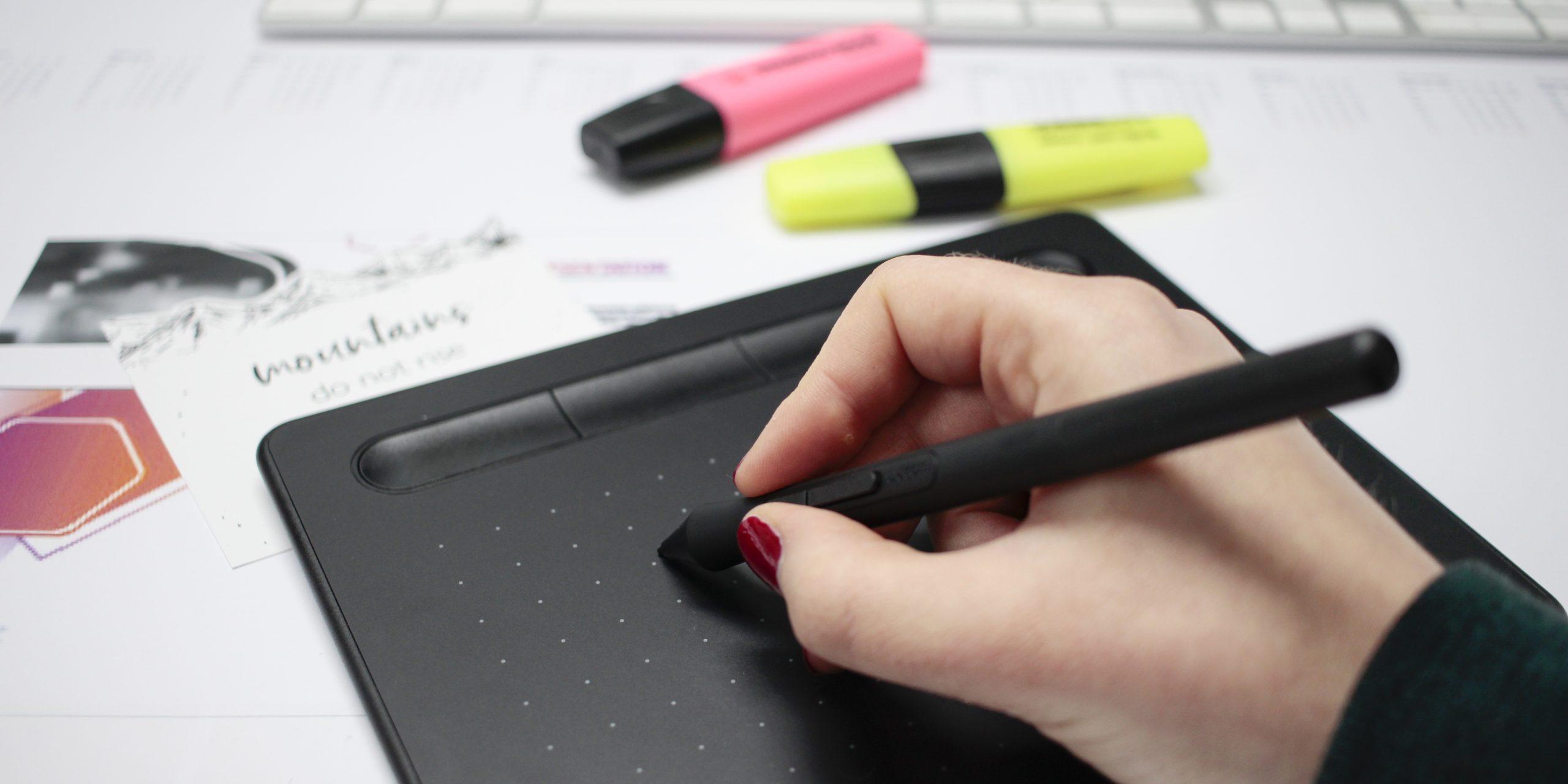 Design mit Grafik Tablett