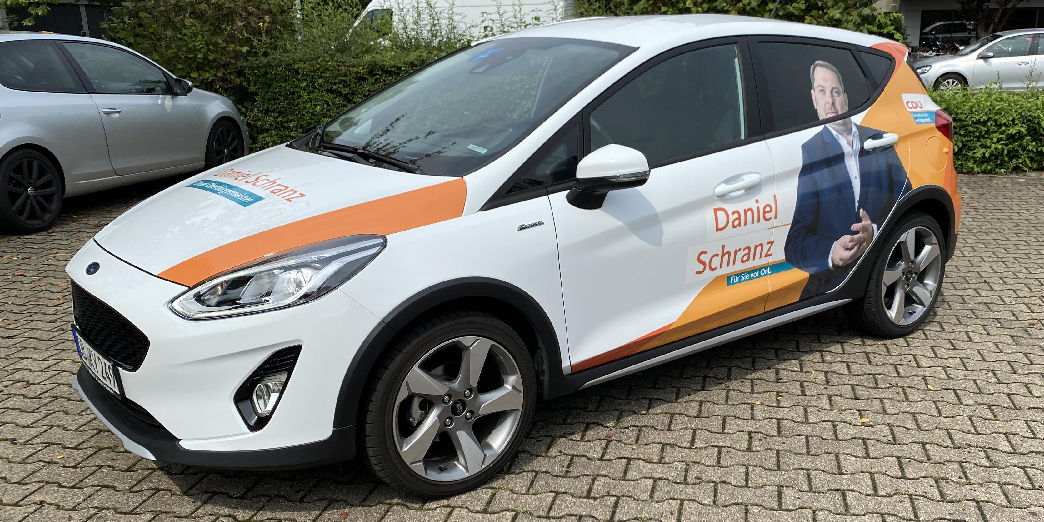 KFZ Teilfolierung - CDU Wahlkampf 2020